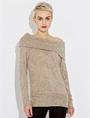 abordables Camisas y Camisetas para Mujer-Mujer Largo Algodón Sudadera Un Color / Invierno