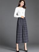 tanie Damskie spodnie-Damskie Luźna Spodnie szerokie nogawki Spodnie Jendolity kolor