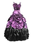 hesapli Maksi Elbiseler-Gotik Wiktoriańskie Ortaçağ 18. yüzyıl Elbiseler Parti Kostümleri Maskeli Balo Kadın's Kostüm Mor Eski Tip Cosplay Parti Balo Balo Abiyesi Büyük Bedenler özelleştirilmiş