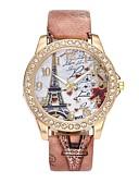 ieftine Quartz-Pentru femei Ceas de Mână Simulat Diamant Ceas Quartz imitație de diamant PU Bandă Analog Lux Floare Vintage Negru / Alb / Albastru - Maro Rosu Albastru Un an Durată de Viaţă Baterie