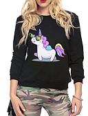 preiswerte Damen Kapuzenpullover & Sweatshirts-Damen Grundlegend Pullover - Druck, Tier