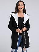 cheap Women's Hoodies & Sweatshirts-Women's Plus Size Long Sleeves Cotton Long Hoodie - Color Block