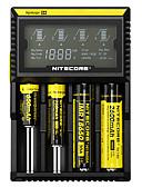 billige Herrebukser og shorts-Nitecore D4 Batterioplader Beskyttet kredsløb / Kortslutningsbeskyttelse / Beskyttelse mod overladning for Li-ion / NI-CD / Ni-MH 10440,14500,16340 (RCR123