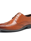 preiswerte Büstenhalter-Herrn Fahrende Schuhe Leder Frühling / Sommer Komfort / Britisch Outdoor Gelb / Braun / Blau / Party & Festivität