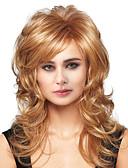 tanie Kwarcowy-Ludzkie Włosy Capless Peruki Włosy naturalne Fala Ciała Część Boczna Długo Tkany maszynowo Peruka Damskie / Body wave