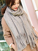 cheap Women's Scarves-Women's Polyester Rectangle - Pearl