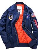 povoljno Muške jakne i kaputi-Jakna Muškarci Državne zastave, Ruska kragna Print / Dugih rukava