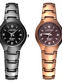 cheap Quartz Watches-Women's Bracelet Watch Quartz Water Resistant / Water Proof Calendar / date / day Chronograph Stainless Steel Band Analog Casual Bangle Fashion Black / Gold - Gold Black Two Years Battery Life