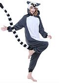 ieftine Fracuri-Pijama Kigurumi Lemur Maimuţă Pijama Întreagă Costume Lână polară Fibră sintetică Gri Cosplay Pentru Sleepwear Pentru Animale Desen animat