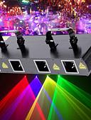 billige Moteundertøy-U'King Laserscenelys 7 DMX 512 Mester-Slave Lydaktivert Auto Fjernkontroll 30 til Klubb Bryllup Stadie Party Utendørs Profesjonell Høy