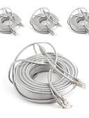 preiswerte Leder-Kabel 4PCS 164ft CCTV RJ45 Video Network Cable DC Power Camera Extension für Sicherheit Systeme 5000cm 4.2kg