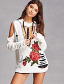 preiswerte Damen Kapuzenpullover & Sweatshirts-Damen Kapuzenshirt - Druck Baumwolle