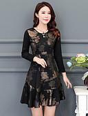 baratos Vestidos Estampados-Mulheres Tamanhos Grandes Para Noite Moda de Rua Bainha Vestido - Estampado Acima do Joelho