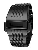 ieftine Ceasuri de Lux-Bărbați Ceas digital Piloane de Menținut Carnea Rezistent la Apă Calendar Cronograf Bandă Piloane de Menținut Carnea Lux Casual Modă Negru / Argint - Negru Argintiu Un an Durată de Viaţă Baterie