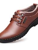 cheap Men's Blazers & Suits-Men's Comfort Shoes Leather Winter Oxfords Black / Brown