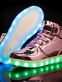 baratos Calças e Shorts Masculinos-Para Meninas Sapatos Couro Ecológico Outono Tênis com LED Tênis para Dourado / Prata / Rosa claro / Festas & Noite