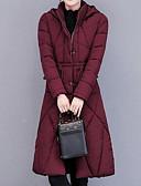 tanie Damska odzież puchowa i parki-Damskie Wyjściowe Moda miejska Wyściełany Jendolity kolor Bawełna
