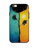 hesapli iPhone Kılıfları-Pouzdro Uyumluluk Apple iPhone X / iPhone 8 Plus / iPhone 8 Temalı Arka Kapak ağaç Yumuşak TPU