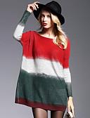 olcso Női pulóverek-Női Alkalmi Egyszerű / Utcai sikk Bő / Kötött Ruha Színes Térd feletti Magas derék