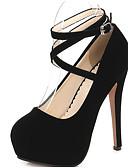 preiswerte Damen Stiefel-Damen Schuhe Nubukleder Frühling / Herbst Komfort / Pumps High Heels Stöckelabsatz Schwarz / Rot / Blau