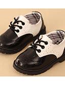 levne Dámské šaty-Chlapecké Boty Koženka Jaro Pohodlné Oxfordské Chůze Šněrování pro Černá / Černobílá
