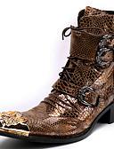 olcso Férfi pólók-Uniszex Fashion Boots Nappa Leather Ősz / Tél Vintage Csizmák Magas szárú csizmák Színes Arany / Party és Estélyi