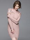preiswerte Damen Blazers & Anzugjacken-Damen Strickware Kleid - Pailletten, Jacquard Rundhalsausschnitt