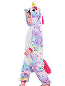 cheap Wedding Dresses-Kid's Kigurumi Pajamas Unicorn Flying Horse Onesie Pajamas Flannel Fabric Rainbow / Blue / Pink Cosplay For Boys and Girls Animal Sleepwear Cartoon Halloween Festival / Holiday