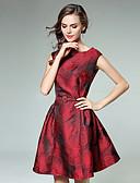 저렴한 여성 드레스-여성용 데이트 A 라인 드레스 - 플로럴, 프린트 무릎길이 무릎 위