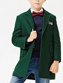 お買い得  男児 ジャケット&コート-男の子 ソリッド その他 ジャケット&コート 長袖 グリーン