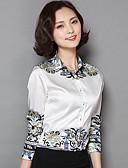 זול שמלות נשים-צווארון חולצה מתוחכם חולצה-בגדי ריקוד נשים דפוס