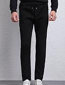 ieftine Pantaloni Bărbați si Pantaloni Scurți-Bărbați Skinny Pantaloni - Mată Nit Negru