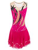 preiswerte T-Shirt-Eiskunstlaufkleid Damen / Mädchen Eislaufen Kleider Pfirsich Strass Hochelastisch Outdoor Kleidung / Leistung Eiskunstlaufkleidung