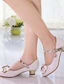 Χαμηλού Κόστους Λουλουδάτα φορέματα για κορίτσια-Κοριτσίστικα Παπούτσια PU Άνοιξη Tiny Τακούνια για Teens Τακούνια Φιόγκος για Λευκό / Ροζ
