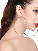 baratos Vestidos de Mulher-Mulheres Brincos em Argola - Simples, Importante Dourado / Prata Para Presente / Rua / Bandagem