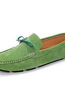 cheap Women's Nightwear-Men's Cowhide Spring / Fall Comfort Loafers & Slip-Ons Black / Green / Blue