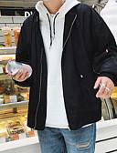 povoljno Muške jakne i kaputi-Muškarci Ležerno / za svaki dan Jesen Normalne dužine Jakna, Jednobojni Ruska kragna Dugih rukava Poliester Drapirano Crn / Red XXXL / XXXXL / XXXXXL