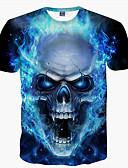 cheap Men's Tees & Tank Tops-Men's Club Basic T-shirt - Skull Print Round Neck / Short Sleeve