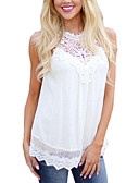 cheap Women's T-shirts-Women's Holiday Street chic Tank Top - Solid Colored
