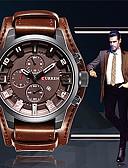 abordables Relojes Deportivo-CURREN Hombre Reloj de Pulsera Chino Reloj Casual / Cool / Esfera Grande Piel Banda Casual / Moda / Elegante Negro / Naranja / Marrón / Maxell SR626SW