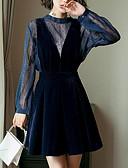 preiswerte Damen Kleider-Damen Ausgehen Street Schick A-Linie Kleid - Druck, Solide Übers Knie