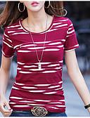 abordables Camisetas para Mujer-Mujer Básico Tallas Grandes Estampado - Algodón Camiseta Bloques / Verano