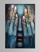 abordables Biquinis y Bañadores para Mujer-Pintura al óleo pintada a colgar Pintada a mano - Personas Contemporáneo Simple Modern Lona
