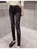 رخيصةأون بنطلونات و ليغنغ نسائي-بنطلون سادة فضفاض جينزات للمرأة / خريف / شتاء