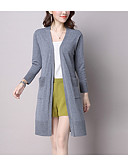 cheap Women's Sweaters-Women's Long Sleeve Cardigan - Solid Colored V Neck