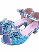 preiswerte Hochzeit Schals-Mädchen Schuhe Glitzer / PU Frühling / Herbst Komfort / Schuhe für das Blumenmädchen / Tiny Heels für Teens Sandalen für Silber / Blau /
