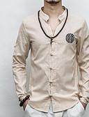 זול טישרטים לגופיות לגברים-אחיד צווארון עומד(סיני) סגנון רחוב חולצה - בגדי ריקוד גברים
