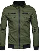 זול גברים-ג'קטים ומעילים-קולור בלוק ג'קט - בגדי ריקוד גברים, טלאים כותנה / שרוול ארוך