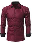 お買い得  メンズシャツ-男性用 シャツ カラーブロック コットン