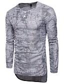 זול טרנינגים וקפוצ'ונים לגברים-אחיד צווארון V סגנון רחוב ספורט כותנה, טישרט - בגדי ריקוד גברים / שרוול ארוך / ארוך